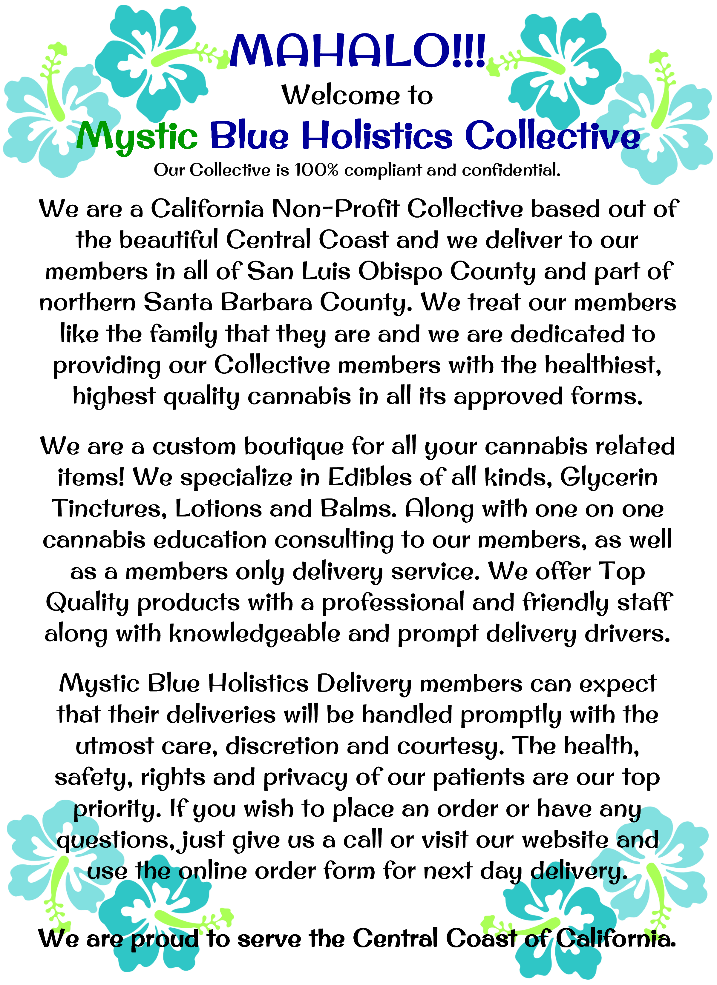 Mystic Blue Holistics Collective and Delivery